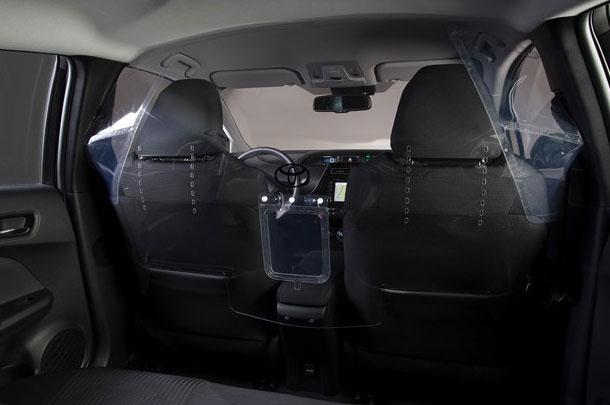 Polycarbonat-Trennwand für Taxis
